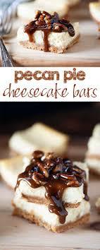 pecan pie cheesecake bars. Fine Pecan Pecan Pie Cheesecake Bars  Creamy Cheesecake With A Thick Sweet Pecan Pie  Topping Inside C