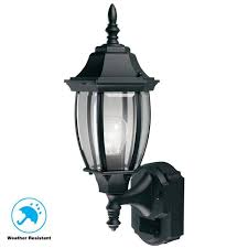 black motion sensing outdoor decorative