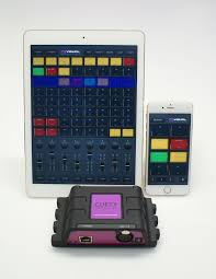 cuety an ipad based dmx lighting control system comprising of cuety on ipad
