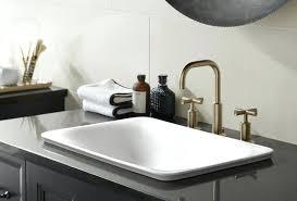 kohler purist wall mount faucet lavatory mounted gold bronze tub filler