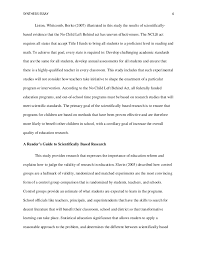 educational research synthesis essay eddc a nine lives of schola  nclb and scientifically based research 4 synthesis essay
