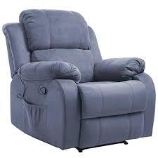 reclining sofa chair. Merax Suede Heated Massage Recliner Sofa Chair Ergonomic Lounge With 8  Vibration Motors, Grey Reclining Sofa Chair .