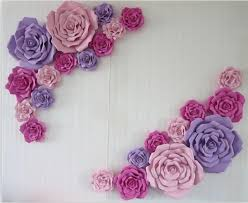 Paper Flower Background Us 284 05 5 Off Wedding Suppliers 23pcs Handmade Giant Foam Paper Rose For Wedding Background Backdrops Decorations Windows Display In Artificial