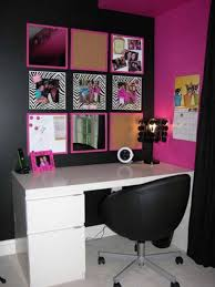 collect idea fashionable office design. Charming Pink And Black Girl Small Home Office Decoration Using Bookshelf In Along With Wall Paint Leather Collect Idea Fashionable Design