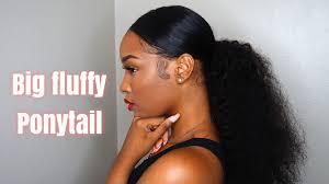 Grwm Hair Big Fluffy Ponytail Fabulousbre Youtube