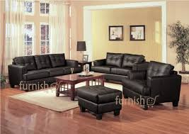 Living Room Chairs With Ottoman Ukachi Modern Living Room Furniture Set 3 2 1 Leather Sofa Set