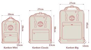 Fjallraven Backpack Size Chart Best Picture Of Chart