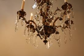 spanish bronze crystal chandelier stdibs
