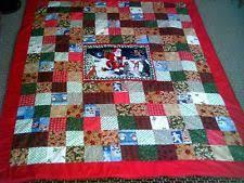 Handmade Christmas Quilt | eBay & Christmas Quilt Handmade Patchwork w/ Santa Center size Full or Twin Adamdwight.com