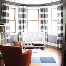 DIY Extra Long Horizontal Stripe Curtains