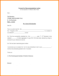 Format Of Employer Certificate Letter Of Recommendation For Scholarship From Employer