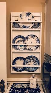wall hanging plate rack shelf small