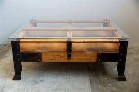turning pallets into furniture. Industrial Pallet Coffee Table With Glass Top For Sale At Turning Pallets Into Furniture U