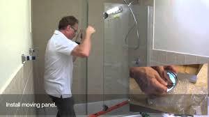 Backyards : Shower Door Installation Maxresdefault Install On Tile ...