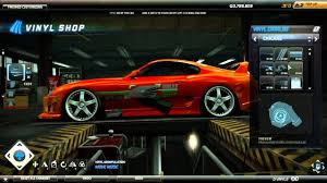 how to make fast and furious toyota supra on nfs 2015