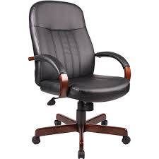 presidential seating wood and leather executive office chair