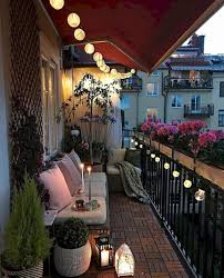 Balcony Lighting Decorating Ideas Small Apartment Balcony Decorating Ideas 68 Apartment