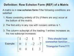 reduced row echelon form calculator elegant reduced row echelon form ppt