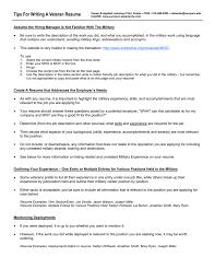 Veteran Resume Samples Tips For Writing A Veteran Resume Veteran Resume Samples