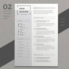 ideas about Good Resume Format on Pinterest Pinterest Resume Ana by Estartshop on  creativemarket