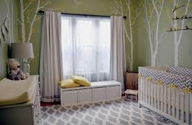 baby nursery yellow grey gender neutral. Gender-Neutral Nursery \u2014 Green Walls, White Birch Trees With Yellow Leaves Wall Baby Grey Gender Neutral G