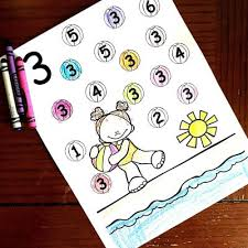 A collection of english esl colours worksheets for home learning, online practice, distance learning and english classes to teach about. Free Summer Number Recognition Coloring Pages