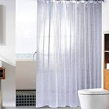 Shower Curtain Size Chart Amazon Com Yx Bathroom Shower Curtain Fabric Waterproof