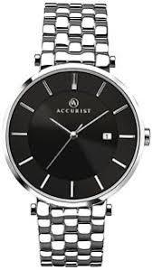 accurist mens black dial silver bracelet watch 7088 rrp £85 00 image is loading accurist mens black dial silver bracelet watch 7088