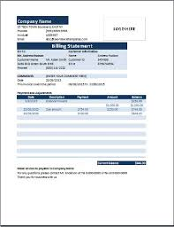 Template Of Statement Ms Excel Billing Statement Invoice Word Excel Templates