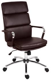brown leather office chair. Deco Brown Leather/Chrome Designer Executive Office Chair Leather