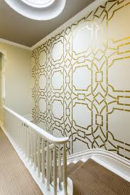 Painted Wall Designs Contempo Trellis Wall Stencil Metallic Gold Paint Oriental