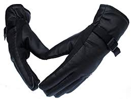 Alexvyan Warm Black <b>1 Pair</b> Leather Snow Proof <b>Winter</b> Gloves for ...