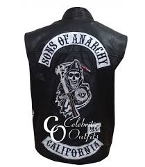 jax teller sons of anarchy replica leather riding vest jacket