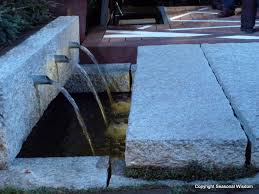 Modern Water Features Three Pipe Fountain In Floor Fountains And Water Features