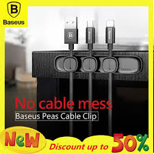 <b>BASEUS Peas Cable Clip</b> Magnetic USB Cord Holder Wire ...