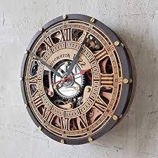 moving gears wall clock