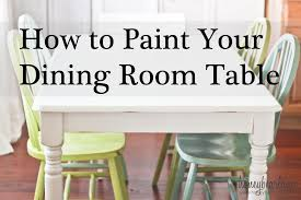 painted table ideasmakeovers how do you paint a kitchen table Best Painted Kitchen