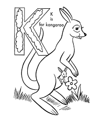 Small Picture ABC Coloring Activity Sheet Kangaroo Animals coloring page