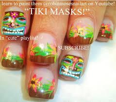 Robin Moses Nail Art: tiki nail art, tiki god nails, totem nails ...
