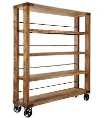 amazoncom furniture 62quot industrial wood. Industrial Bookcase On Wheels Phenomenal Style Open BookShelf Rustic Chic And Home Interior 2 Amazoncom Furniture 62quot Wood