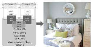 king pillows on queen bed. Fine Bed You Can Also Place Decorative Pillows On The Front To Achieve A Complete  Look Throughout King Pillows On Queen Bed