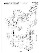 drill press parts. rockwell 17 inch drill press parts manual s