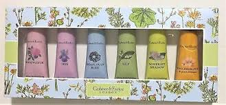 brand new crabtree evelyn london six piece hand therapy gift set pink or blue