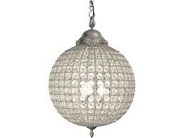 round crystal pewter chandelier with leaf decoration medium