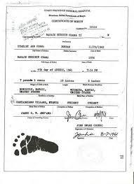 Malik Obama On Obama Birth Certificate Birth Certificate
