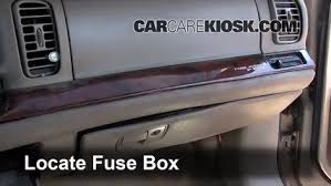 interior fuse box location 1997 2005 buick park avenue 1998 2003 Crown Victoria Fuse Box locate interior fuse box and remove cover 2003 crown victoria fuse box
