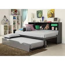 Acme United Renell collection silver and black metal twin day bed with  bookcase with pull out