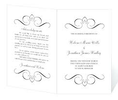 Microsoft Wedding Program Templates Wedding Program Template Printable Instant Download Calligraphy Free