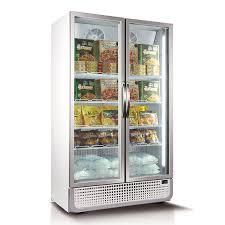 842l vertical glass door commercial freezer