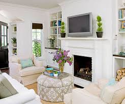 Living Room Chairs With Ottoman Classic White Fireplace For Amazing Living Room Design With Round
